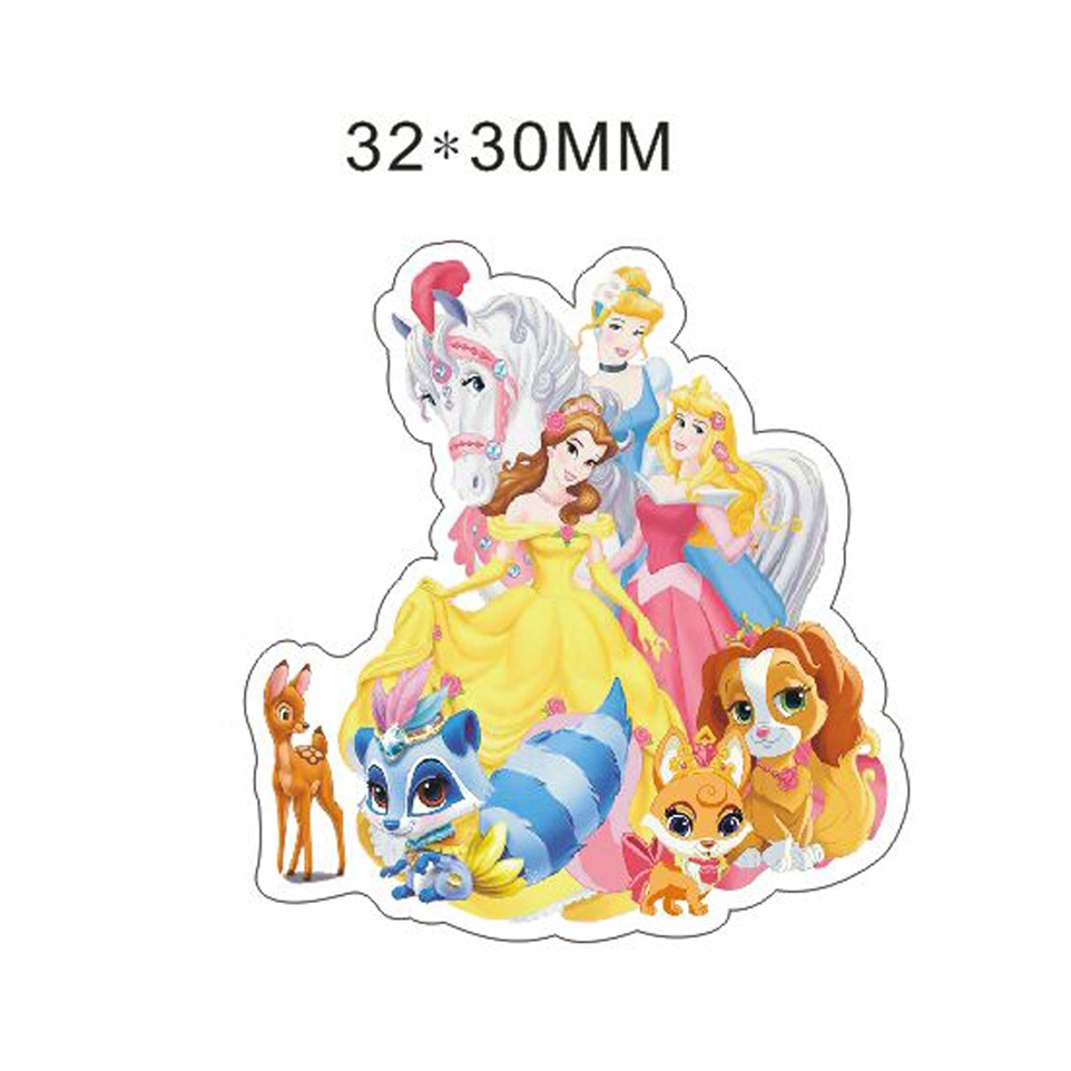 Cartoon <strong>Resin</strong> Flat Back Princess <strong>resins</strong> For hair bows 50pcs 32*30MM ALRET972H