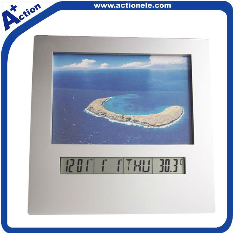 Photo Frame Digital Clock with Alarm Year snooze function home decor table clock with photo frame