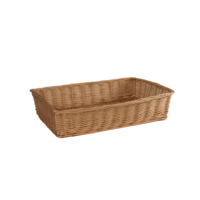 Rectangle rattan wicker bread basket