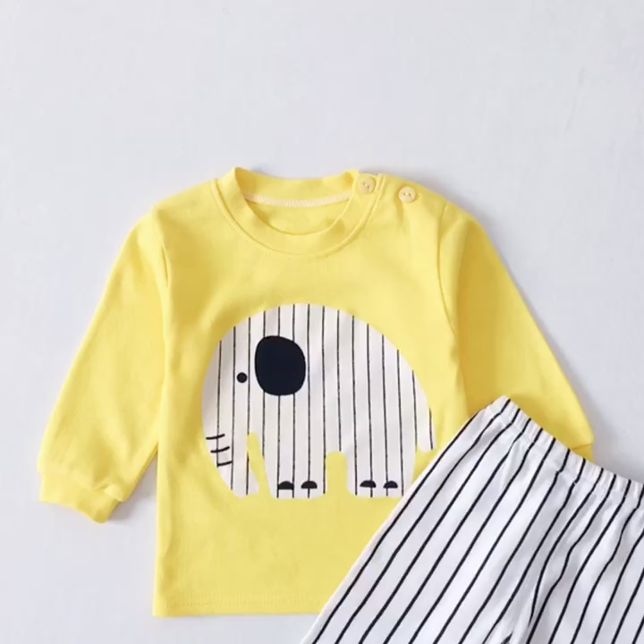100% Cotton Kids Pajamas Boys Fashion children Sleepwear Girls Nightwear Baby Infant Clothes Factory Price Hot sale products