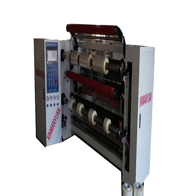 XMY012 Multi purpose <strong>double</strong> shaft rewinding Slitter <strong>machine</strong> for tapes