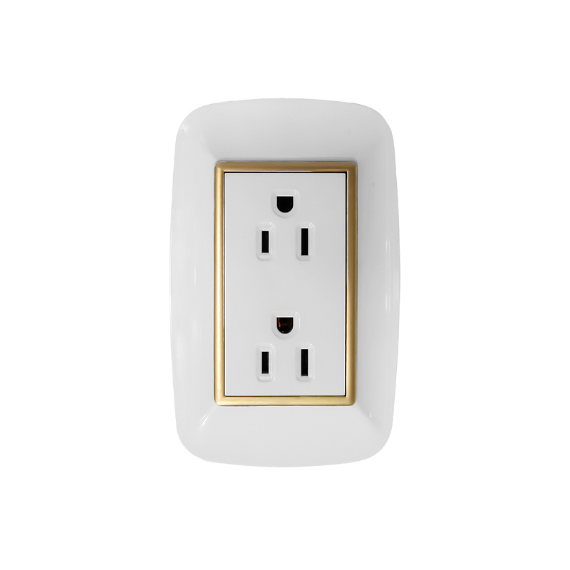 new in discount all color wall plate 2pin 3pin 110V 250V US electric switch socket