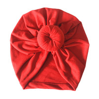 New baby bow hat kids girls boys autumn and winter warm hat baby cap Indian hats