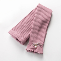 Wholesale Spring Cute Little Girl Baby Pantyhose Cotton Ribbed Kids Tights