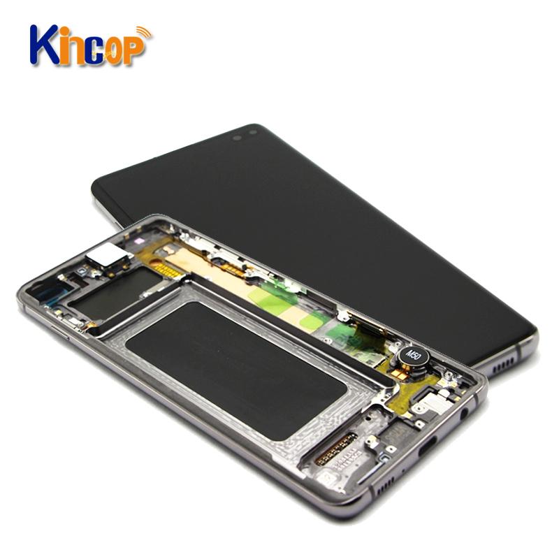 צגי lcd טלפון נייד עבור סמסונג גלקסי Note4 5 7 FE 8 9 10 10 + 20 במיוחד lcd תצוגת digitizer עם הרכבה מסך מגע עם מסגרת