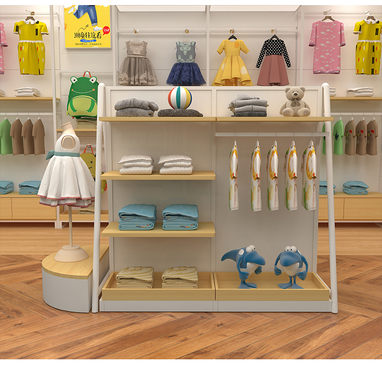 Miniso Display Rack Store Shelf Fashion Wooden and Metal Daiso Display Stand
