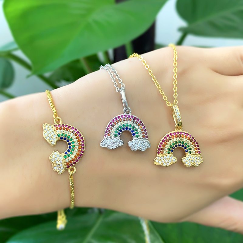 Brazil <strong>cute</strong> <strong>necklace</strong> rainbow pendant mix color <strong>necklace</strong> for fashion girl
