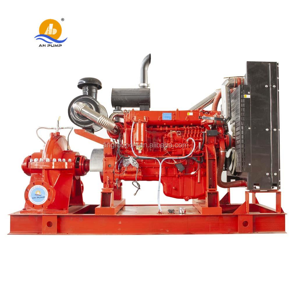 Horizontale kreisel doppel saug split fall pumpe set diesel motor feuer pumpe