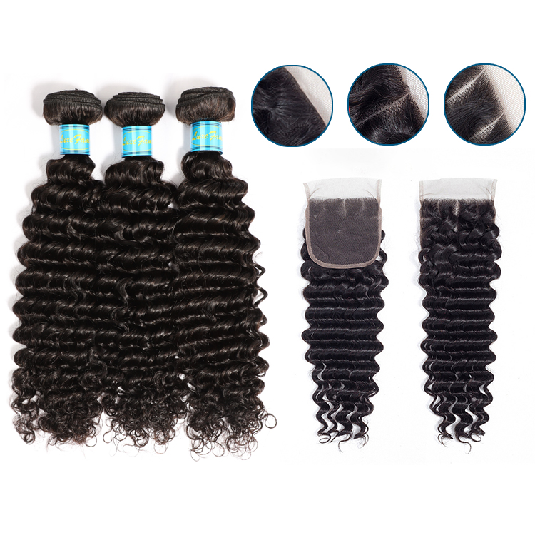 Luxefame Brazilian Deep Wave Hair Bundle Raw Virgin Cuticle Aligned Hair Deep Curly Hair Extension For Black Women, N/a