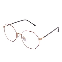 Fashion Men Women Transparent Glasses Frame Male Female Round Stainless Steel Clear Frame Glasses For Reading Books
