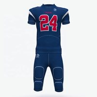 Custom Sublimation Printed Sewing Pattern american football Uniforms Set Professional Football Wear