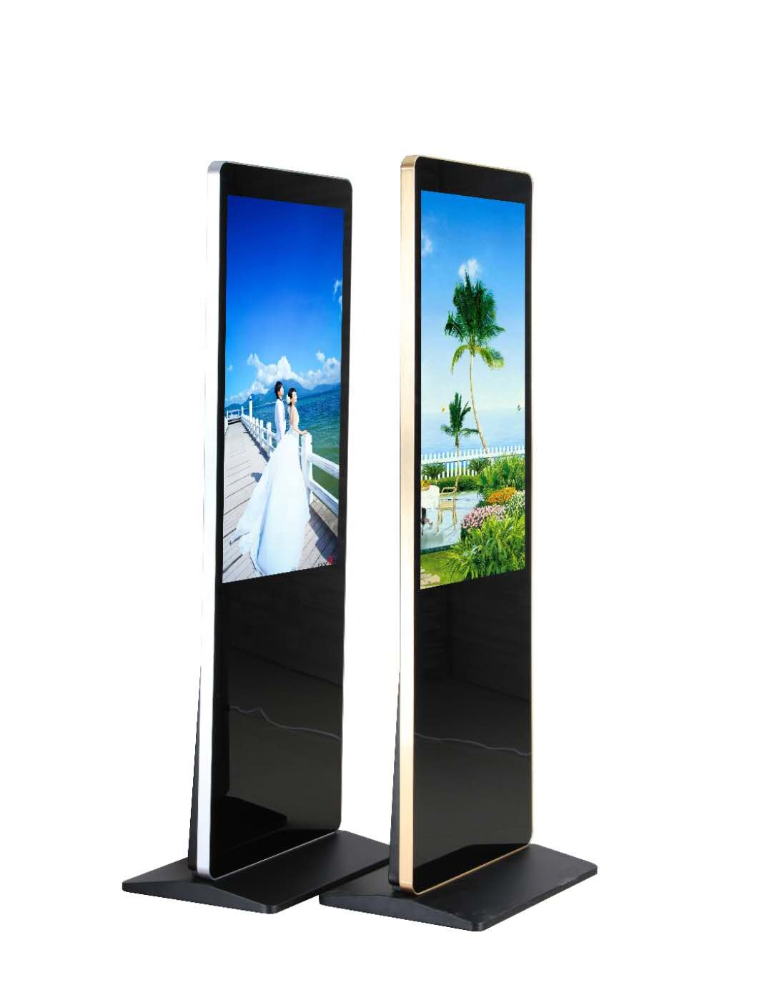 "China factory wholesale 65"" floor stand digital signage player advertising display with Android"