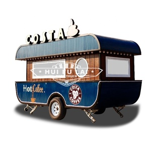 Cheap Wholesale Coffee Box Food Trailer/Food Truck For Sale Mobile Van Trailer
