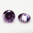 8mm round shape synthetic cubic zirconia loose gemstone cheap price for jewelry