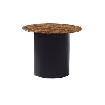 Modern european furniture restaurant round wooden MDF matt painting marble top dining table