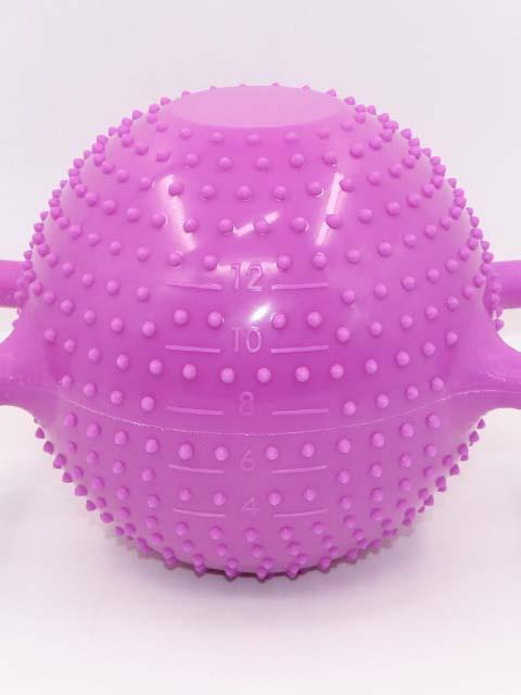 Iniezione di acqua regolabile morbido manubri PVC Yoga Bollitore Campana di Yoga per il fitness manubri Kettlebell con doppio orecchio maniglia