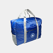 Polyester big capacity tarpaulin waterproof travel duffel bag manufacturer