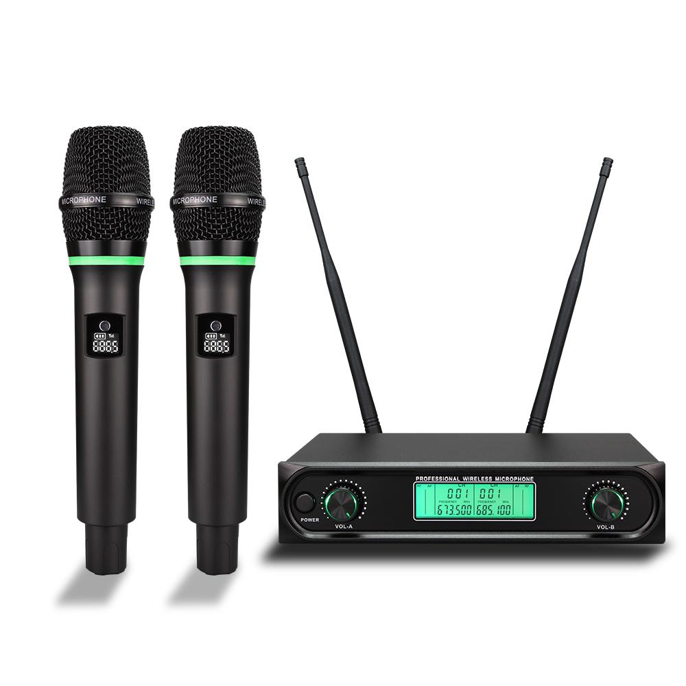 Baobaomi S-10B UHF frekuensi disesuaikan nirkabel singing mikrofon dengan isi ulang mic genggam