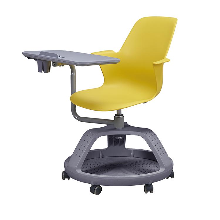 현대 휴대 학교 PP 의자 훈련 사무실 의자 태블릿