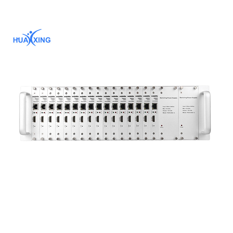 Hdmi encoder modulator ip 1. MPEG4/AVC H.264 encoding 2.4 * HDMI in, 1 * RF out 3. DVB-C/T/ATSC/ISDB