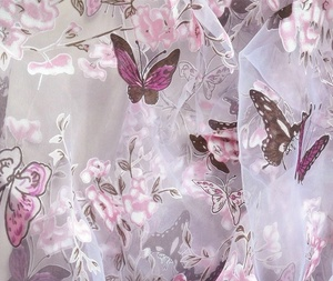 Fonesun-PS444 100% Polyester organza with printing