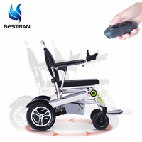 BT-XW18 Lightweight Fully automatic folding remote controller power foldable electric wheelchair