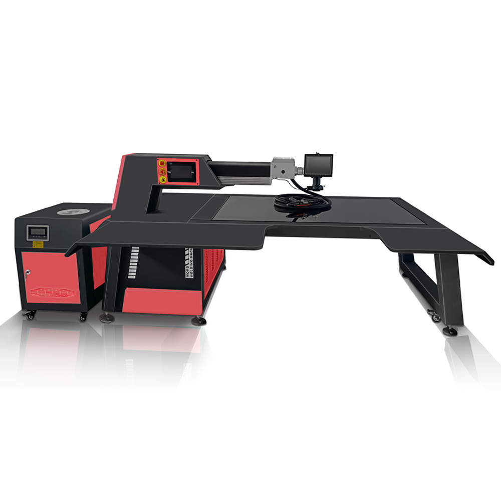 BYTCNC channel letter laser welding bending and notching machine easy making led sign With fiber cable 5m laser gun