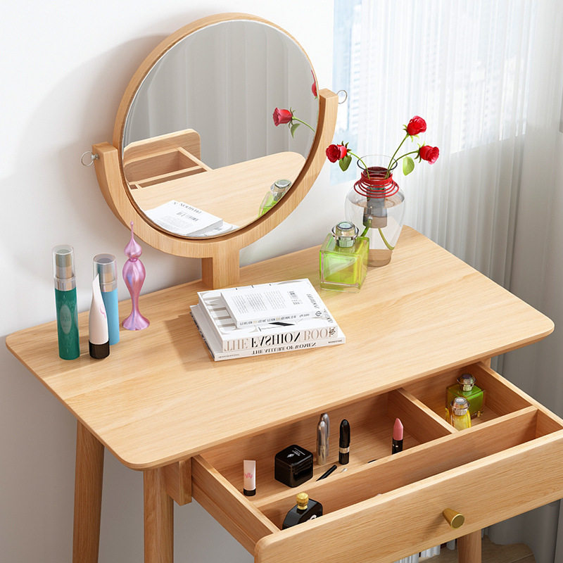 product-BoomDear Wood-Makeup Mirror Price Furniture Mini Console Folding Bedroom Drawer Dressing Tab-1