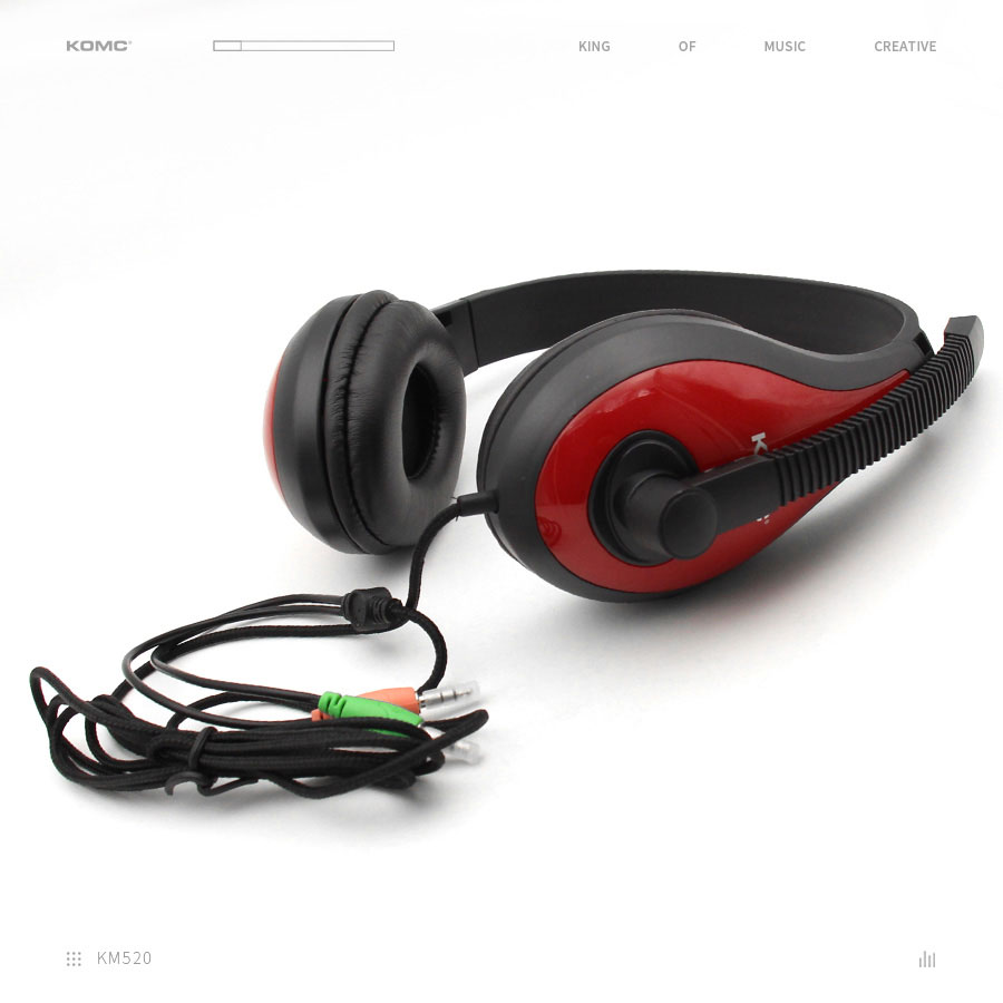 KOMC Stereo Sound Gaming Headset Stylish Headphones 3.5mm For Computers Laptop Mobile