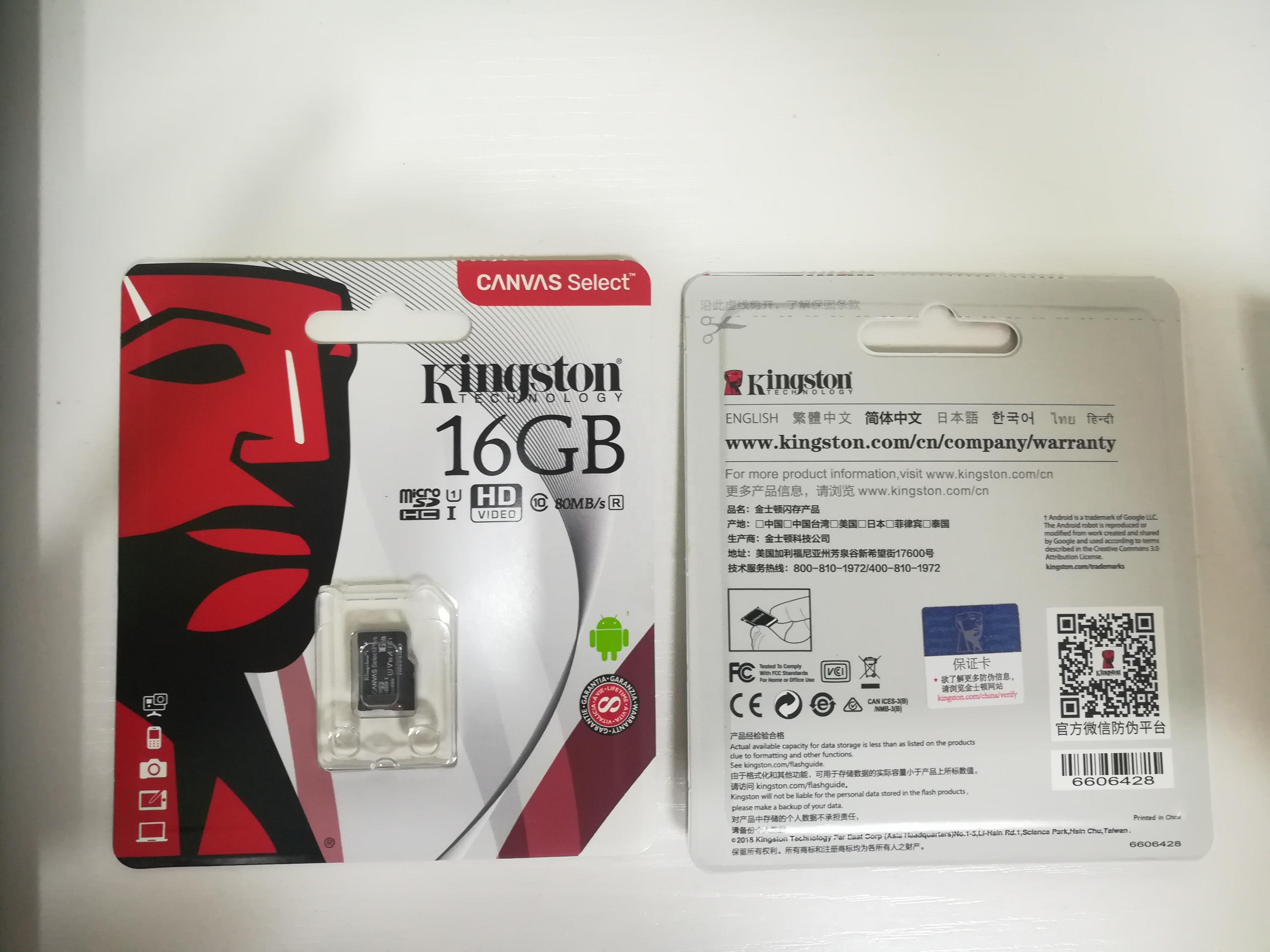 100% original Kingston Micro SD Card 32GB 64GB 256GB 16G 128GB Memory Card Class10 SD/TF Flash Card for Phone