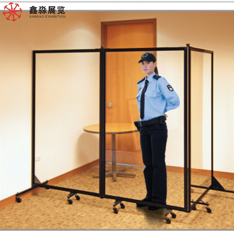 Room divider <strong>screen</strong>, Hotel use movable acrylic portable divider,aluminum frame clear divider customized