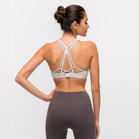 Womens High Support Slim Fit Athletic Workout Running Jogging Bra