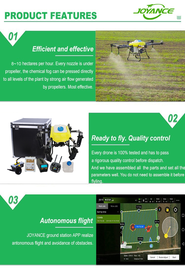 16L/16 kg detachable drone sprayer in agriculture sprayer drone with quick couple tank for farm crop