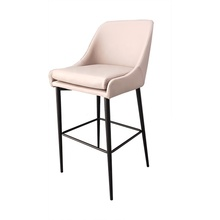 Hotel Lounge Counter Chair Luxury High Chair Bar Stool Leather PU Modern with Removable Seat