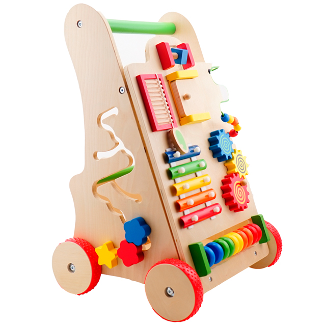 2020 neue design multi push entlang holz baby walker spielzeug