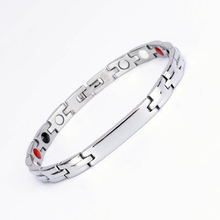 Aimeishi roestvrij staal of titanium materiaal IP plating gezondheid 4 in 1 ion energie armband <span class=keywords><strong>foto</strong></span>