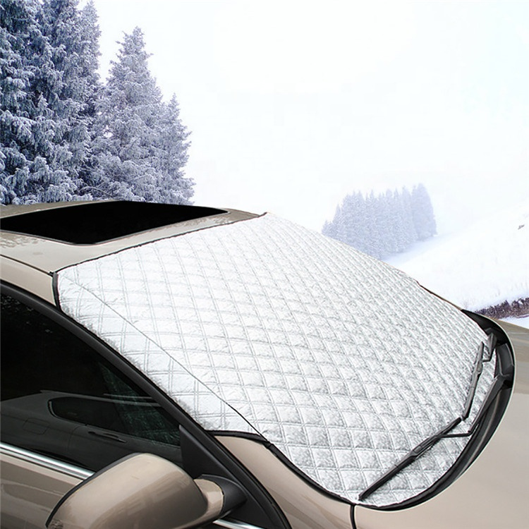Outdoor Car Protection Windshield Snow Cover Windshield Sun Shade Magnetic Edges All Weather Car Vehicle Front Windscreen