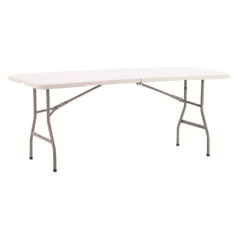 6FT white outdoor rectangular plastic folding table