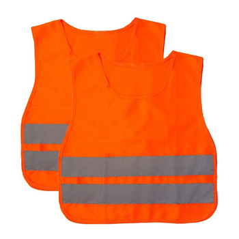 ZUJA Fluo Orange High Visibility Lightweight Breathable Kids Safety Vest
