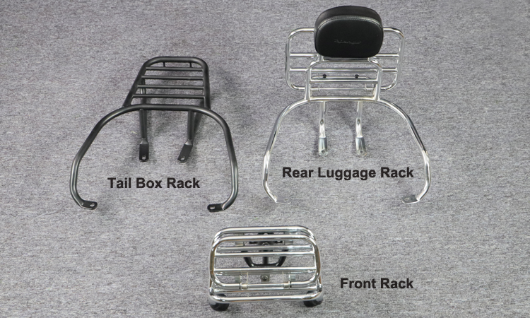 OEM motorcycle rear shelf custom motorcycle luggage rack for Peugeot Django