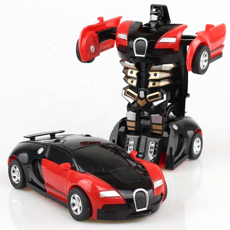 Оптовая продажа, дешевые детские пластиковые литые под давлением машины, робот, автоматическая трансформируемая Автомобильная игрушка