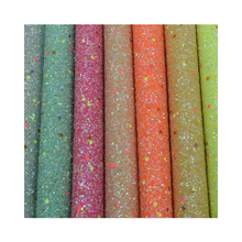 2019 nieuwe chunky glow in the dark glitter <span class=keywords><strong>stof</strong></span> met <span class=keywords><strong>polyester</strong></span> backing