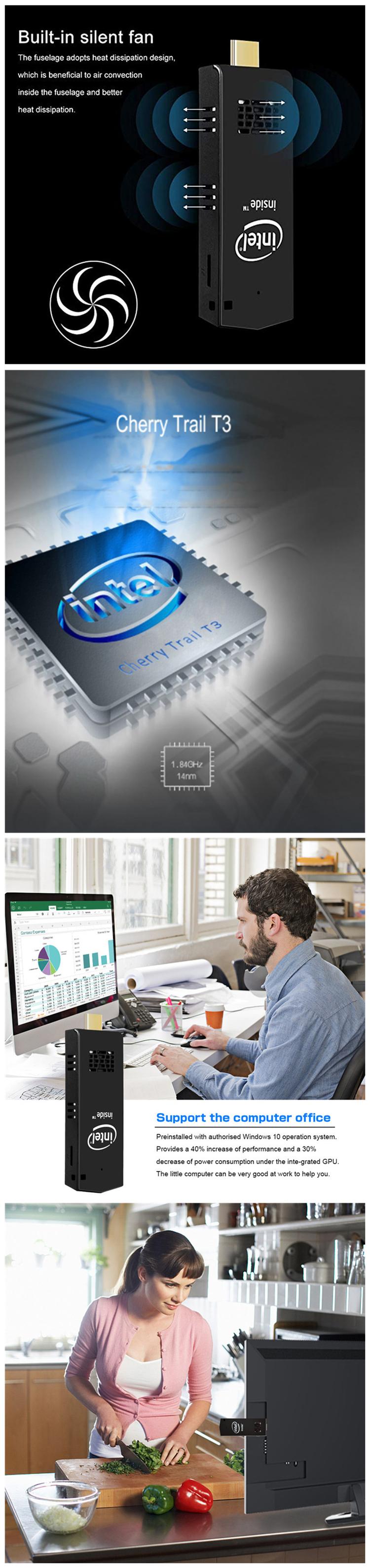 t5 32gb 64gb 128gb z8350 cheaper computer mini-pc type-c 8gb ram poe windows10 intel processor fanless mini desktop pc