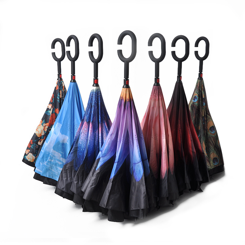23 inch 10K promotional products waterproof custom make automatic fold umbrella