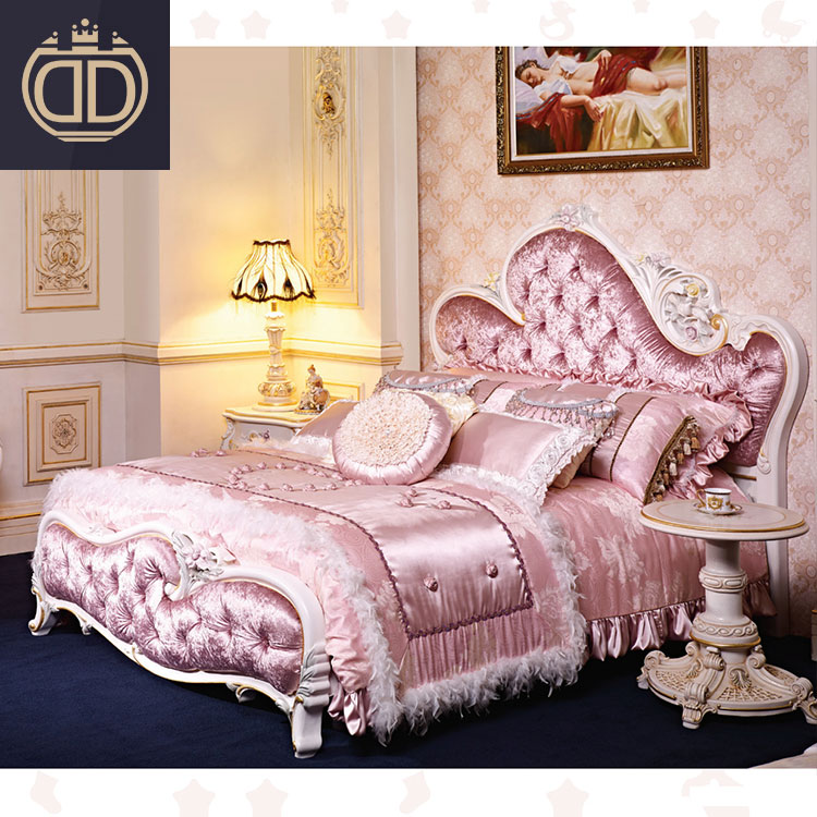 Antique Royal Pink Bedroom Furniture Wooden Carving Bed Set Design Luxury King Size Pink Princess Girls Velvet Fabric Bed Buy Fabric Bed Princess Bed Girls Bedroom Furniture Product On Alibaba Com