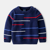 2019 Autumn New Kids Clothes Baby Child Simple Horizontal Striped Tide Sweater