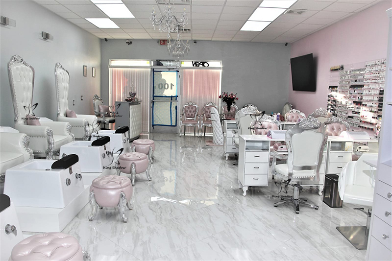 Salon beauty equipment manicure furniture metal nail tables for sale