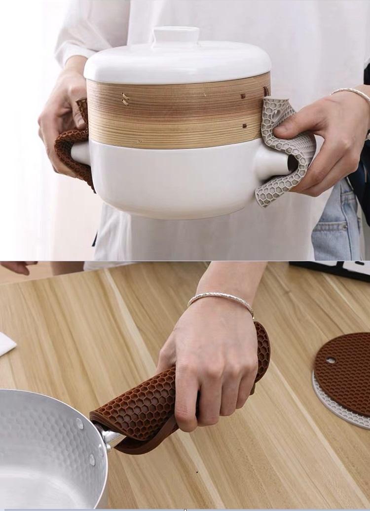 Honeycomb Round Heat Resistant Silicone Pot Holder/ Hot Pot Mat/ Pad/Coaster/Trivet