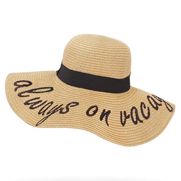 Kadın alfabe işlemeli büyük ağız güneş koruma kağıt disket hasır şapka yaz plaj