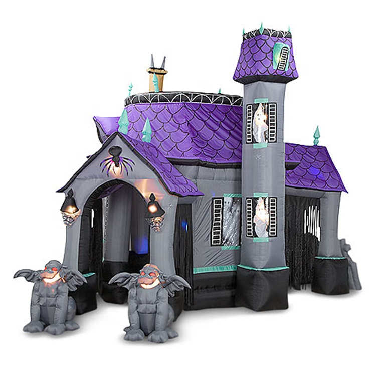 Halloween large inflatable haunted houses inflatable bounce house for party good sale quality air jumping castle for park